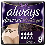 Always Discreet Boutique Underwear, Large, Pack of 2