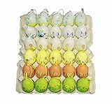 HAAC 30 Stück Ostereier Deko Eier Eierset Ostern bunt aus Kunststoff 6 cm