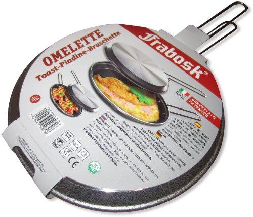 Frabosk Girafrittata/Hamburghiera/Tostiera Doppio Grill, Antiaderente, Alluminio, 30 cm