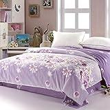 Jingzou Edredón de algodón edredón de una sola cama de sarga de algodón doble edredón único200*230cm