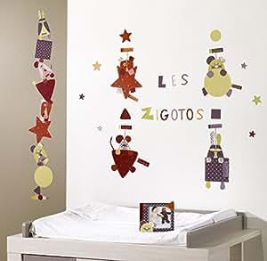 Sauthon on Line - Deux planches de stickers muraux collection Zigotos