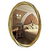 Lxn Einfacher moderner dekorativer Wand-hängenden ovalen Badezimmer-Kosmetikspiegel, der Spiegel kleidet (Farbe : #6, größe : 53 * 74cm)
