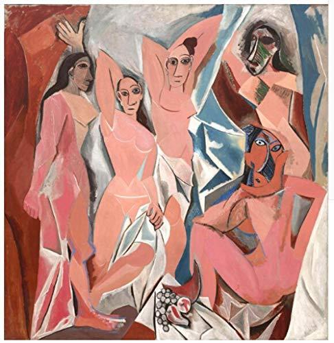ZAMLE benutzerdefinierte Moderne Wandbild Picasso Avignon Mädchen Schlafzimmer Wandbilder TV Sofa Rückwand Tapete @ 250x175_cm_ (98.4_by_68.9_in_) -