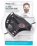 RZ Mask Black, Regular (Large) - masque anti-particules avec filtre de charbon actif + filtre et étui gratuit