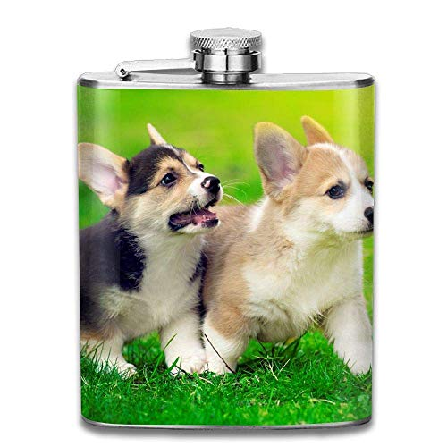 7 Oz Stainless Steel Flask Cute Corgi Wallpaper Fashion Portable Stainless Steel Hip Flask Whiskey Bottle for Men and Women 7 Oz - Wallpaper Skyrim