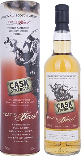 Peat 's Beast CASK Strength Pedro Ximenez Sherry Wood acabado con Regalo del paquete (1x 0,7l)