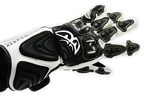BERIK Racing Gloves ! Motorradhandschuhe ! NEU ! JEREZ G-8088H-BK schwarz weiß (S)