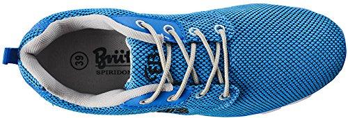 Brütting Amarillo, Baskets Basses Mixte Adulte Blau (blau/schwarz)