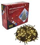 Idena 30441 - LED Lichterkette mit 300 LED in warm weiß, mit 8 Stunden Timer Funktion, für Partys, Weihnachten, Deko, Hochzeit, als Stimmungslicht, ca. 37,9 m