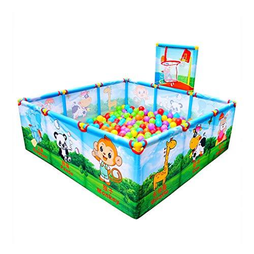 Parc pour enfants parc pour enfants Clôture de sécurité intérieure d'aire de jeu pour enfants avec barrière de sécurité rectangulaire pour enfants de famille, avec anneau de basket-ball de jeu, hauteu