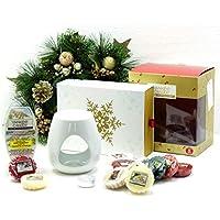 My Planet Yankee Candle Yankee Candle - Set de Regalo de Navidad con Diseño de Velas de Navidad, Incluye Cubos de Cera, Cera y Vela de Té sin Aroma