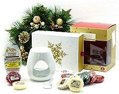 Idea Regalo - Official Yankee Candle festive Season essenze set regalo di Natale confezione include cubi di cera, cera & Unscented Tea light