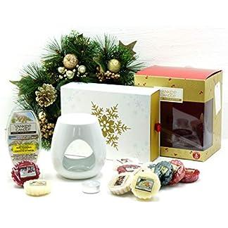 My Planet Yankee Candle Yankee Candle – Set de Regalo de Navidad con Diseño de Velas de Navidad, Incluye Cubos de Cera, Cera y Vela de Té sin Aroma