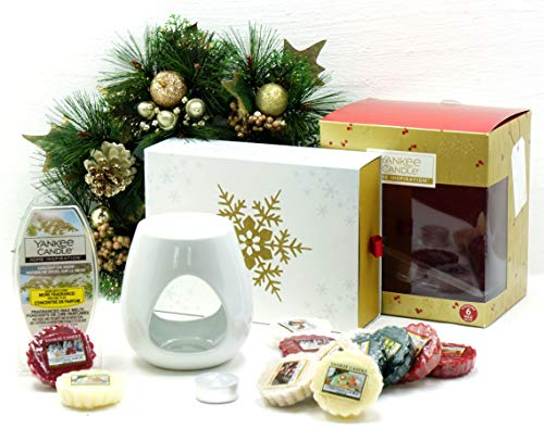 Official Yankee Candle festive Season essenze set regalo di Natale confezione include cubi di cera, cera & Unscented Tea light