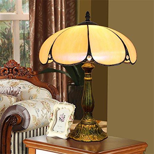 EuSolis 12 pulgadas de vidrio ámbar Tiffany lujo antiguo lámparas de mesa de noche para el dormitorio sala de estar Art Deco Coffe mesa tradicional de escritorio Edison lámpara 02