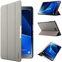 iHarbort® Samsung Galaxy Tab A 10.1 Funda - ultra delgado ligero Funda de piel de cuerpo entero para Samsung Galaxy Tab A 10.1 pulgada (2016 Version SM-T580N SM-T585N) con la función del sueño / despierta (Galaxy Tab A 10.1, gris)