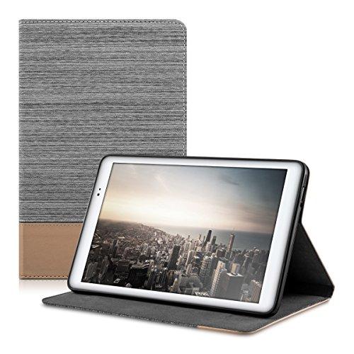 "kwmobile 36163.25 Funda para Tablet 25,4 cm (10"") Libro Marrón, Gris - Fundas para Tablets (Libro, Huawei, MediaPad T1 10, 25,4 cm (10""), 241 g, Marrón, Gris)"