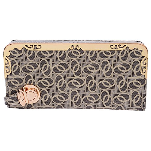 Bagaholics Clutch Ladies Purse Girls Hand Wallet Women Clutches Diwali Gift (Ash)  available at amazon for Rs.350