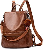 ASTIR COLLEEN Women's Backpack Handbag - PomPom (Brown)