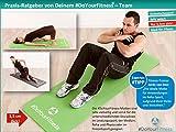 Portable Fitnessmatte »Sharma« / dick und weich, ideal für Pilates, Gymnastik und Yoga, Maße: 183 x 61 x 0,8cm, orange -