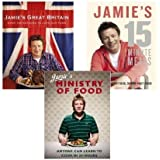 Jamie's Oliver 3 books collection(Jamie's 15 minute meals, Jamie's Great Brit...