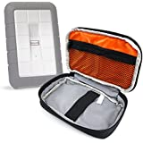 DURAGADGET Hard Drive Security Pouch For LaCie Rugged Safe, Porsche Design P9220, LaCie Porsche Design P'9221, LaCie Rugged Mini & LaCie Rugged Triple, In Black And Orange, With Extra Netted Storage Pocket