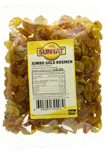 SUNTAT Gelbe Rosinen Jumbo geschwefelt, 2er Pack (2 x 350 g)
