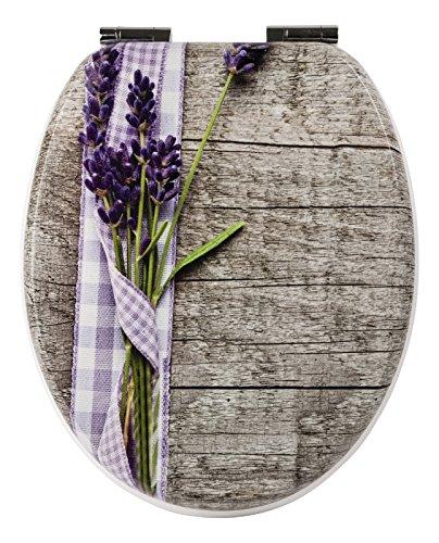 Sanlux 40390 0 WC-Sitz Lavendelblüte, Dekor, Universal