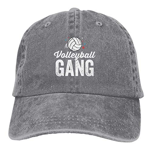 Presock Volleyball Gang Cowboy Cap Unisex Adjustable Snapback Baseball Hat Gray