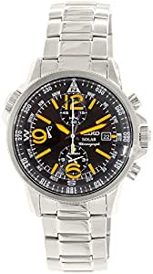 Seiko SSC077P1 Solar  - Wristwatch men's, Stainless Steel, Band Colour: Grey