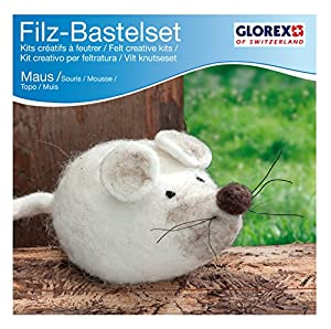 Glorex GmbH Set Creativo de Fieltro, Maus Creme, 12 x 6