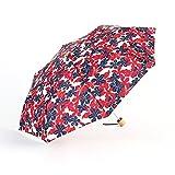 Reise Kompakter Regenschirm Winddicht Mini Literatur Und Kunst Klein Frisch Drucken Holzgriff Sonniger Regen Taschenschirm Ultraleicht Anti-UV Sonnenschirme Durch RLF.LF