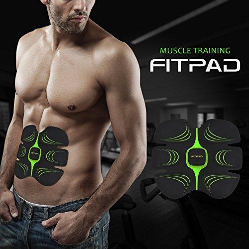 FITPAD Apparato Elettrostimolatore Addominali & Macchina di Fitness Muscolare per Bruciare i Grassi e Tonificare i Muscoli Adatto per Casa e Palestra