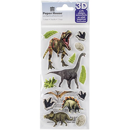 """Paper House Productions /""""Dinosaurs/"""" 3-D Stickers"""