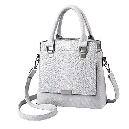 Frau Handtasche Schulter Diagonal Mode Handtaschen Freizeit Rucksack Grey