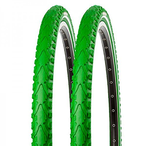 2x Kenda Fahrrad Semislick Reifen Khan K-935 40-622 28x1.5 Draht grün reflex