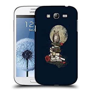 Snoogg Studying Owl Designer Protective Back Case Cover For SAMSUNG GALAXY GRAND DUOS I9082