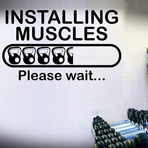 yaoxingfu Installieren Muskeln Übung Bild Wandaufkleber Für Fitness Vinyl Aufkleber Hintergrund Kunst Wandbilder Tapete Dekor Zitate Karte Farbe 42X76 cm