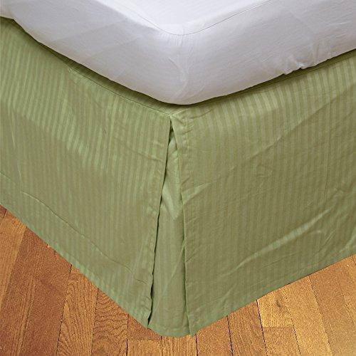 BudgetLinen Box Plissee Bed Rock (Valance Sheet)(Salbei Steifen,Kleines Doppel (4ft x 6ft 3
