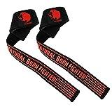 UK Warrior V2Xtra Grip Correas para levantamiento de barra de pesas, agarre de silicona, sujeción...