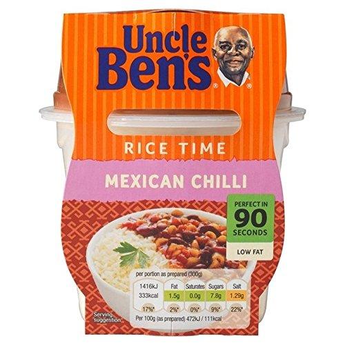Temps De Riz Piment Mexicain Moyen Micro-Ondes Repas Prêt De 300G De L'Oncle Ben - Paquet de 2