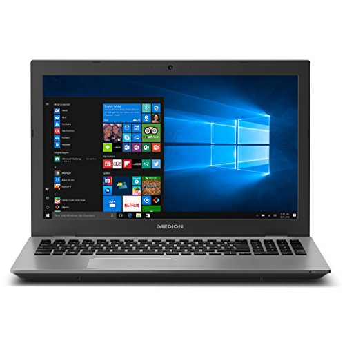 MEDION AKOYA E6437 MD 60813 39,6 cm (15,6 Zoll mattes Full HD Display) Notebook (Intel Core i5-7200U, 6GB RAM, 1TB HDD, 128GB SSD, Intel HD-Grafik, Win 10 Home) silber (Notebook)