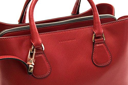 Pelle Donna Rosso Coccinelle Saffiano Coccinelle Borsa Borsa New Celly RwpS1q