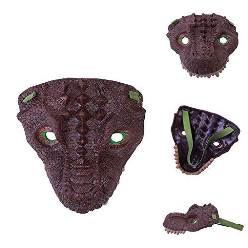 Dead Doll Kind Kostüm - LCLrute Halloween Vollkopfmaske, Cosplay Dinosaurier Gesicht Kopf Latex-Kostüm-Stütze-Maske Scary Spielzeug