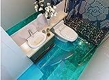 BZDHWWH 3D Bodenbelag Benutzerdefinierte Wandbild Tapete 3D Marine Hai 3D Tapete Wohnzimmer Vinyl Bodenbelag Tapete Selbstklebend,200Cm X 300Cm