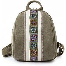 1036f6601b REFURBISHHOUSE Zaini di tela di design di piccole dimensioni per ragazze  adolescenti Zaino per borse da