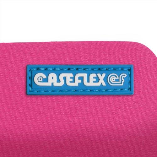 Caseflex Coque iPhone 6S / 6 Etui Rose Chaud Néoprène Pochette Avec Caseflex Logo, Avec Stylet