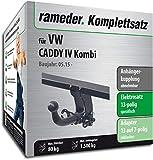 Rameder Komplettsatz, Anhängerkupplung abnehmbar + 13pol Elektrik für VW Caddy IV Kombi (123661-14302-1)
