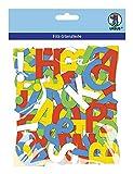Ursus 20300099 - Bastelfilz Buchstaben 150 Stück, bunt sortiert