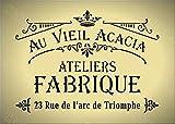 Pochoir A5 - Style shabby chic, français, meubles, tissu, verre, réutilisable en Mylar *NOUVEAU Plus épais 190 microns (142)